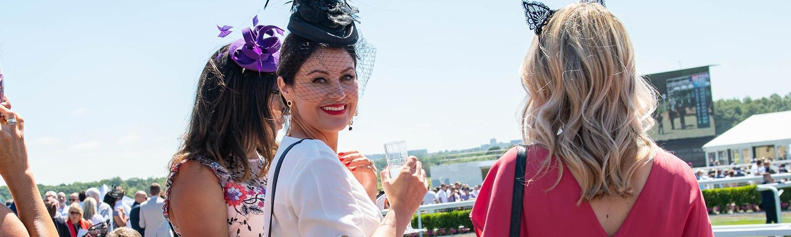 Ladies attending Ladies Day at Newcastle Racecourse