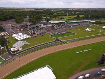 An aerial view of Newcastle Racecourse
