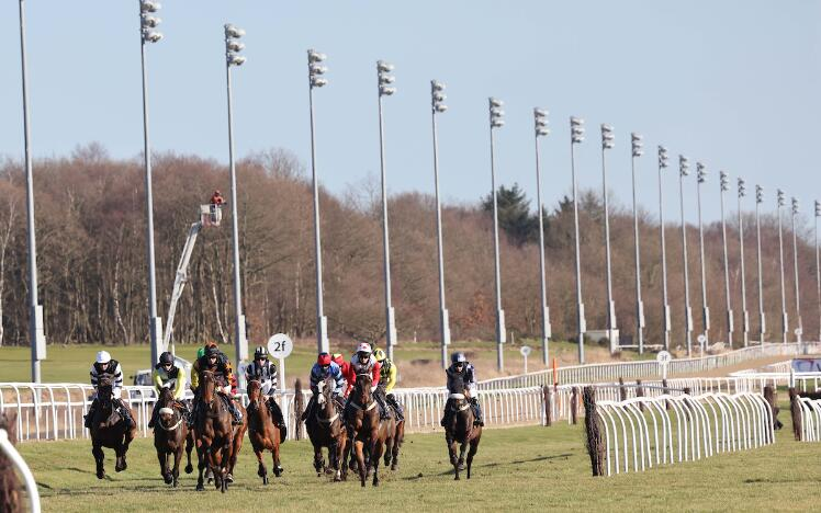 Jumps racing at Newcastle Racecourse