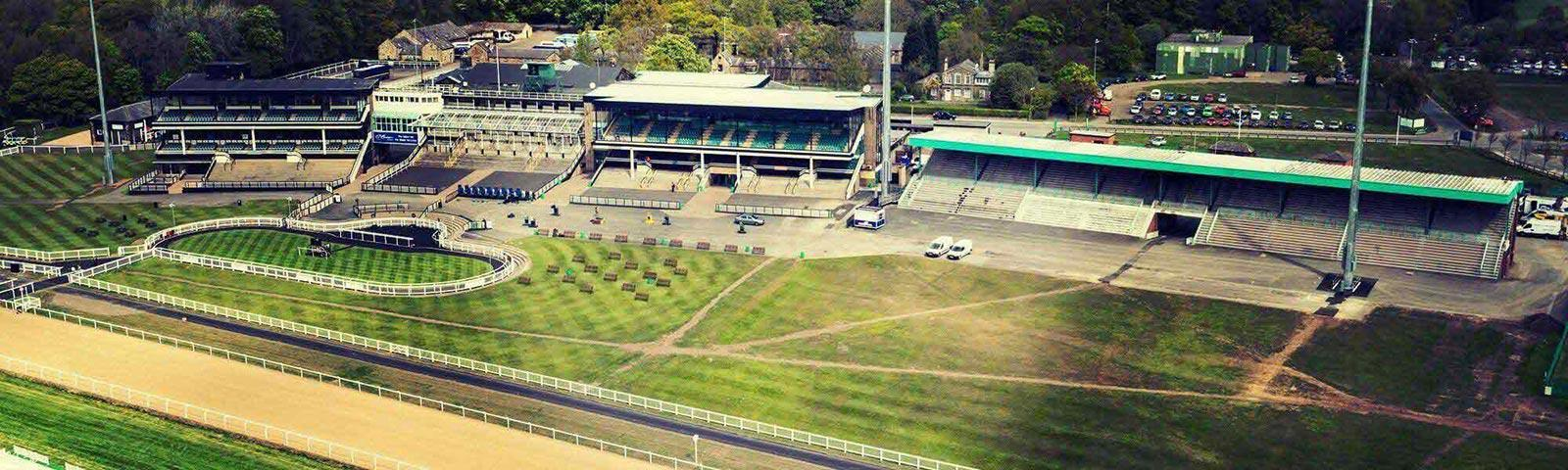 Aerial view of the Newcastle Racecourse.